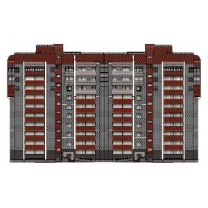 10-этажный 2-секционный жилой дом в г.Киров