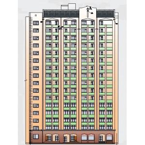 16-этажный жилой дом с магазинами в г.Брянск