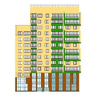 Многоэтажный жилой комплекс в г.Уфа