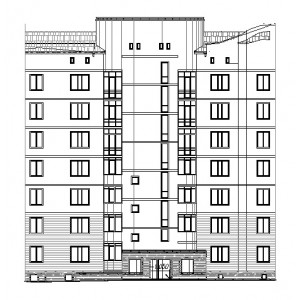 7-этажный монолитный жилой дом в г.Великий Новгород