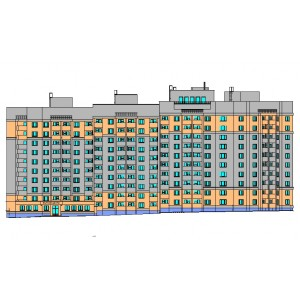10-этажный жилой дом с офисными помещениями в мкр.Веризино г.Владимир