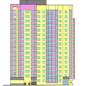 16-этажный жилой дом с магазинами и подземным паркингом в г.Пермь