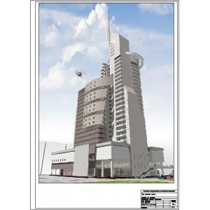 Многофункциональный центр с 3-уровневой подземной автостоянкой в г.Красноярск