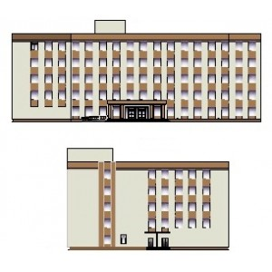 Административно-лечебный корпус краевой больницы на 550 коек в г.Владивосток