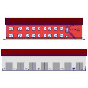 Здание линейно-производственного управления с гаражом в г.Чернушка
