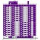 17-этажный корпус общежития учебно-бытового комплекса ЮФУ в г.Ростов-на-Дону